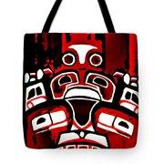 Canada - Inuit Village Totem Tote Bag