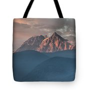 Canadian Coastal Mountains Sunset Tote Bag