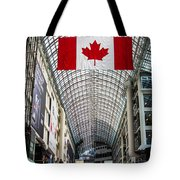 Canadian Flag Over Eaton Center Tote Bag