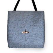 Canadian Geese Love Tote Bag