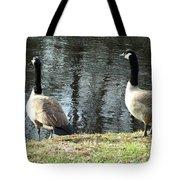 Canadian Geese On Spaulding Pond Tote Bag