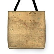 Canadian Mounted Police Map Tote Bag