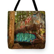 Canadian Pacific Box Car Wreckage Tote Bag