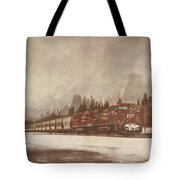 Canadian Pacific In Banff  Tote Bag
