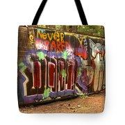 Canadian Pacific Train Wreck Graffiti Tote Bag