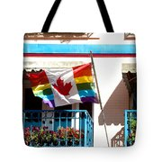 Canadian Rainbow Flag Tote Bag