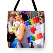 Canadian Rainbow Tote Bag