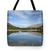 Canadian Rocky Mountains With Lake  Tote Bag