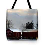 Canadian Snowy Farm Tote Bag