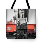 Canadian Totem And Railway Tote Bag