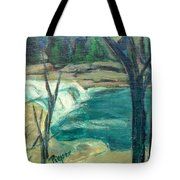 Canajoharie Creek Near Village Tote Bag by Betty Pieper
