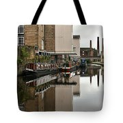 Canal And Chimneys Tote Bag by Jeremy Hayden