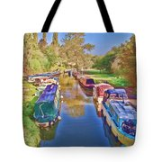 Canal Barges Tote Bag