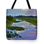 Canal In The Glades Tote Bag