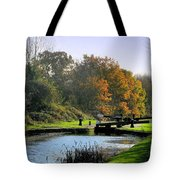 Canal Locks In Autumn Tote Bag