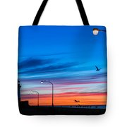 Canal Park Sunrise Tote Bag