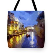 Water Canals Of Amsterdam Tote Bag