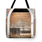 Canalside Weathered Door Venice Italy Tote Bag