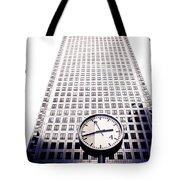 Canary Wharf Clock Tote Bag