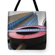 Canary Wharf Tube Sign Tote Bag