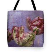 Cancan Parrot Tulips Tote Bag