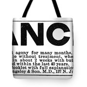 Cancer Treatment, C1875 Tote Bag