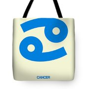 Cancer Zodiac Sign Blue Tote Bag