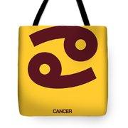 Cancer Zodiac Sign Brown Tote Bag by Naxart Studio