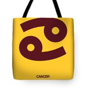 Cancer Zodiac Sign Brown Tote Bag