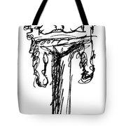 Candelabrum Sketch Tote Bag