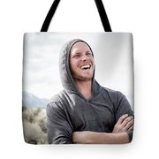 Candid Portrait Of Laughing Young Tote Bag