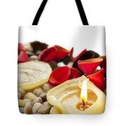 Candle And Petals Tote Bag