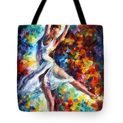 Candle Fire - Palette Knife Oil Painting On Canvas By Leonid Afremov Tote Bag