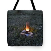 Candle Glow Tote Bag