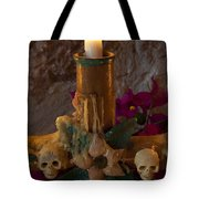 Candle On Day Of Dead Altar Tote Bag