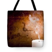 Candle Smoke Trails Tote Bag