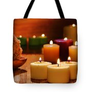 Candles Burning In A Spa  Tote Bag