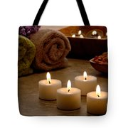 Candles In A Spa Tote Bag