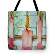 Candles In The Wind-ow Tote Bag