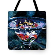 Candles In Water Tote Bag