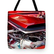 Candy Apple Red Horsepower - Ford Racing Engine Tote Bag