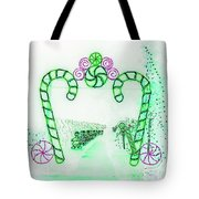 Candy Cane Christmas 5 Tote Bag