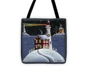Candy Cane Cove Tote Bag