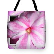 Candy Cane Flower Tote Bag