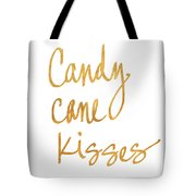 Candy Cane Kisses Tote Bag