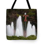 Candy Cane Water Fountain Tote Bag