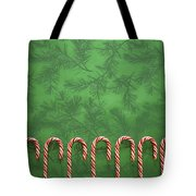 Candy Canes Tote Bag by Colette Scharf