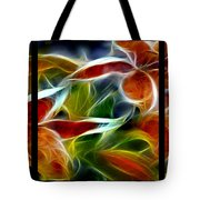 Candy Lily Fractal Triptych Tote Bag