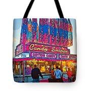 Candy Shoppe Line Art Tote Bag