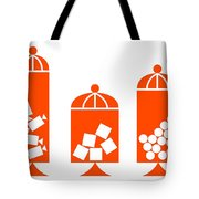 Canisters In Orange Tote Bag